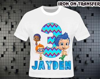 Bubble Guppies Iron On Transfer , Bubble Guppies Birthday Shirt DIY , Bubble Guppies Shirt DIY , Iron On Transfer , Digital File