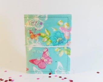 Floral fabric fauxdori - traveler's notebook - travel journal - shakerdori - midori - planner cover - planner organizer - bullet journal