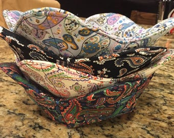 Bowl Cozy, Paisley pattern, assorted colors