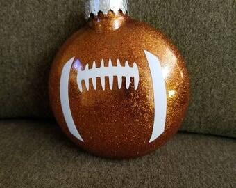Football glitter ornament