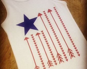 Independence Day-Fourth of July-American Flag Arrows-Patriotic
