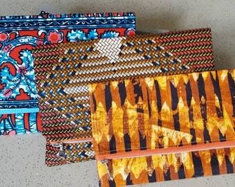 African wax print foldover clutch bag/ purse/pouch/African textile/Afrocentric clutch/foldover