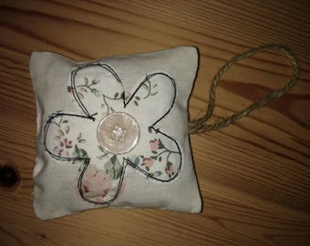 Embroidery Flower Lavender Bag