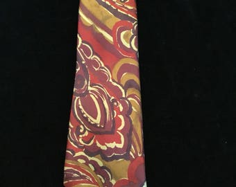 vintage  Ted Lapidus Silk Tie Made In Italy
