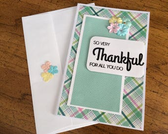 Thank you cards, blank cards, greeting cards, handmade greeting cards