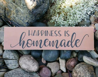 happiness is homeade sign
