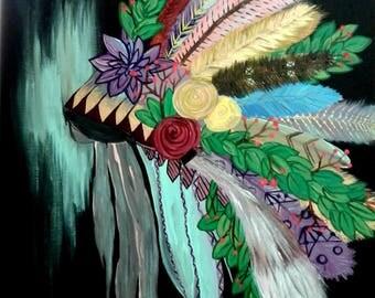 Acrylic Colorful Headdress