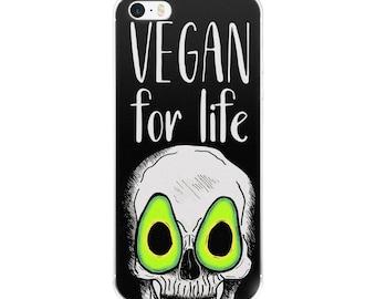 vegan for life  [5/5s/se/6/6plus] black