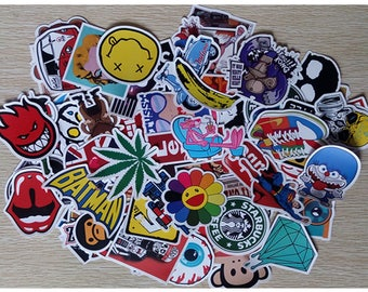 100 Vinyl Sticker Bomb Pack Laptop Stickers Car Stickers Bike Stickers