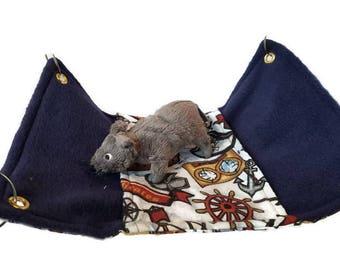 Rat Hammock- Rat Cage Accessories - Pirate Peekaboo Hammock- Sugar Glider Hammock