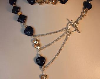 N17048 Lapis Lazuli & Silver Necklace