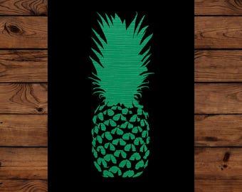 Papercut Pineapple Greeting Card