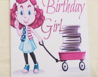 Handmade Greeting Card, Birthday Girl Greeting Card,  Childrens Birthday Greeting Card, Made in the USA, #7