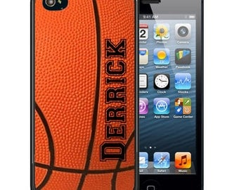 Personalized Rubber Case For iPhone X, 8, 8 plus, 7, 7 plus, 6s, 6s plus, 5, 5s, 5c, SE - Basketball