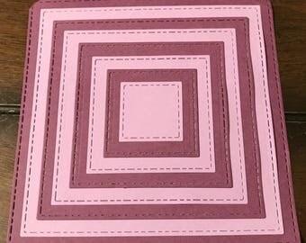 Square Die Cut Set of 8