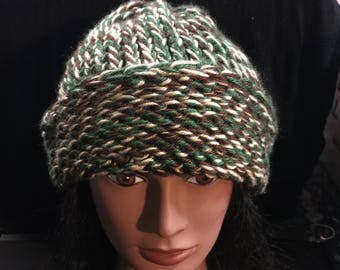 Crochet hat camo hunter