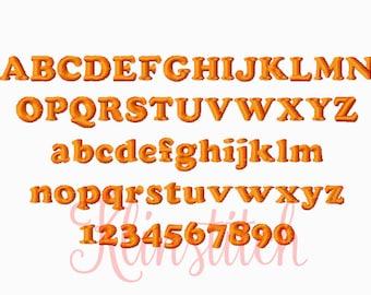 50% Sale!! Coper Embroidery Fonts 2 Sizes Fonts BX Fonts Embroidery Designs PES Fonts Alphabets - Instant Download