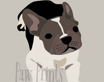 French Bulldog Puppy Print