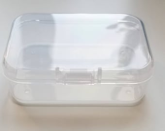 High Quality Plastic Hinged Box Clear High Quality DIY Projects Storage Container Jewelry Small Box