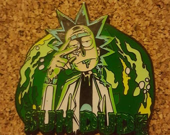 Rick and morty Suh Dude psychedelic/ trippy  hat pin