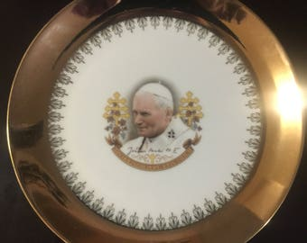 Pope John Paul ll 22k Gold Collector Plate