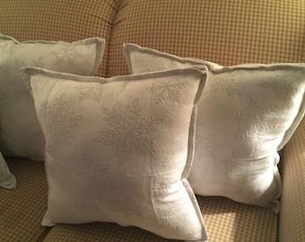 White Snowflake Sparkle Pillow
