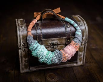 Free form crochet necklace