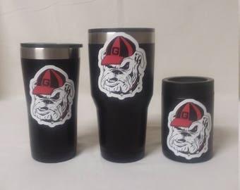 Georgia Bulldogs/Tumbler/Can Coolers