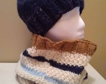 cowl/hat set for women