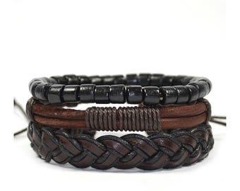3 Pack Cocoa Bracelet Set