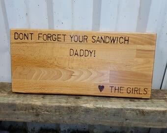 Personalised handmade wooden cheeseboard