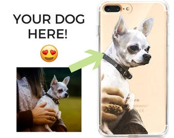 Dog custom iphone case, Custom puppy picture case, personalised dog personalized phone case, pet iphone case, custom gift for dog owners