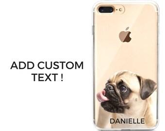 Pug custom iphone case, pug gift idea dog iphone case, pug iphone case personalized iphone case customized pug gift idea gift for pug owners