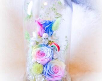 Rainbow Bridge Garden LED-lit Light Preserved Rose
