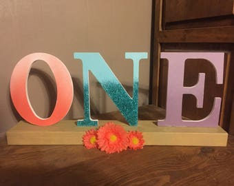 """First Birthday """"ONE"""" sign"""