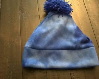 Fleece Hat Blue Tie Dye