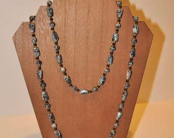 "Vintage Long ""Rock"" Beaded Necklace"