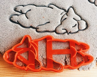 Sleeping Corgi Dog Cookie Cutter