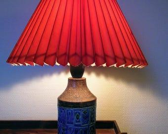 Italian lamp from 60s ,Aldo Londi  for Bitossi Rimini Blue
