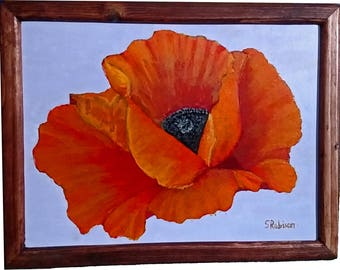 Poppy with frame