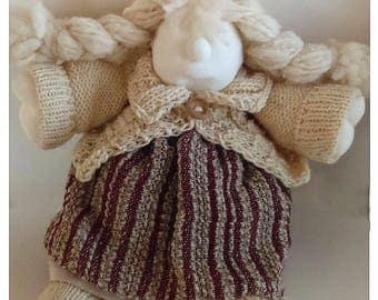 Handmade-doll Fabric-doll Cloth-doll Art-doll Winter-doll