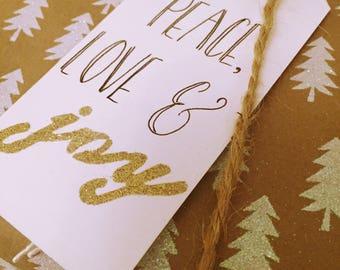 Peace, Love & Joy Christmas Tag