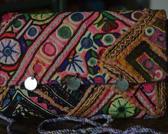 Clutch Bag Indian Vintage Banjara Patchwork Tribal Bohemian Purse Stylish Gypsy BB04