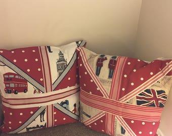 London decorative cushions pair