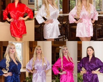 Bridesmaid robes, set of 11 bridesmaid robes, Bridal robes set of 11 Bridal party robes set of 11 robes, Blue robe, White robe. Blush robes