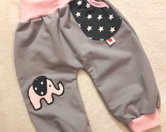 "Baby bloomers ""Elephant"" from sweat in the Gr. 50/56 to 86/92"