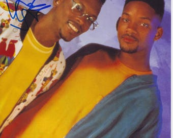 DJ Jazzy Jeff Signed The Fresh Prince of Bel-Air 8x10 Photo COA Will Smith