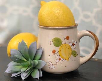 Vintage Norleans Korea Lemon Dogwood Mug 70's