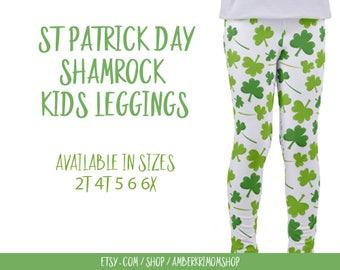 Toddler Leggings / St. Patrick's Day Toddler Leggings / St. Patrick's Day Kids Leggings / Shamrock Pants / Shamrock Leggings / Toddler Gift