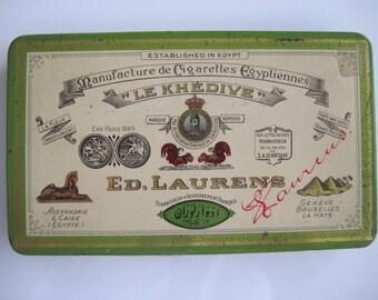 Le Khedive Fine No 17 Turkish Cigarette Tin (50/empty) by Ed Laurens c.1920/40